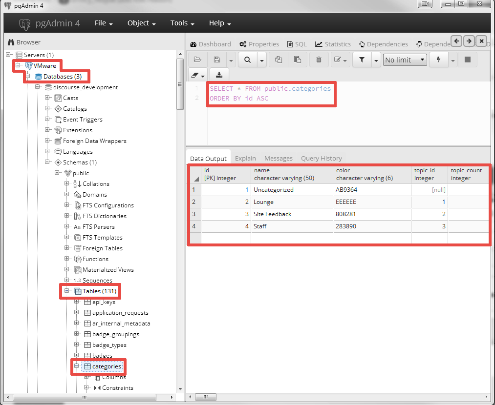 How to access a PostgreSQL database in a VMware Workstation